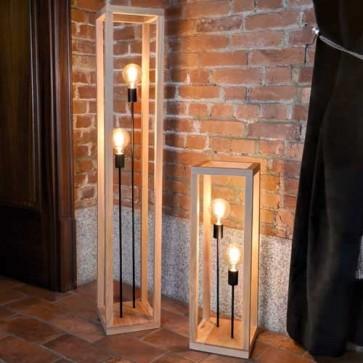 kago-lampe-à-poser-bois-chene-2L-douille-metal-noir-51514274-allumé