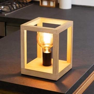 kago-lampe-à-poser-bois-chene-1L-douille-metal-noir-7154174-allumé