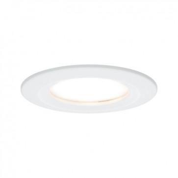 Kit de 3 spots encastrés LED Coin Slim - Blanc - 6.8W - 3x415LM  - 2700K - IP44 - Non dimmable - Avec ampoule - Paulmann