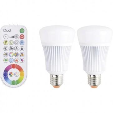 kit 2 ampoules led 11w rgb + remote control