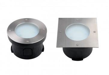 kit Spot LED extérieur encastrable OLYMPIA 9 W acier inoxydable