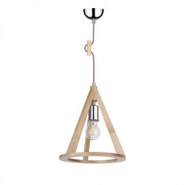 konan-suspension-bois-bouleau-cordon-rouge-blanc-E27-60W