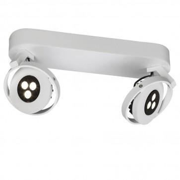 Plafonnier ORBITS LED 2 x 7,5 W Blanc 230 V Massive