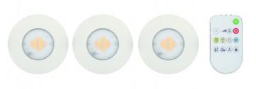 Kit 3 spot encastré Led FUNBO blanc IP65 à telecommande