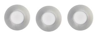 Kit 3 Spot Encastré Fixe PRIMIA Led intégré 5.5W 345 lumen gris