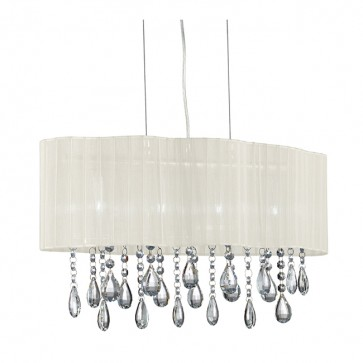 Lustre PLEATED 4 sources goutte cristal2224-4CR