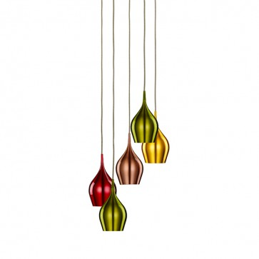 Lustre VIBRANT 5 suspends multi color6465-5
