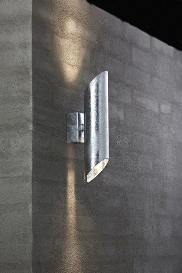 PIN Applique Murale galva GU10 2x8w maxi galva garantie 15ans contre la corrosion