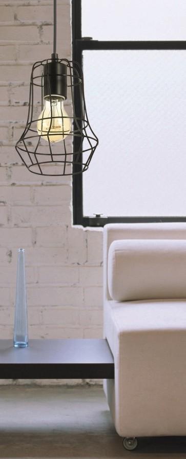 OUTLINE suspension 1XE27 60W noir diam 15cm