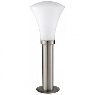 Borne basse extérieure CONE verre/acier galvanisé H45cm