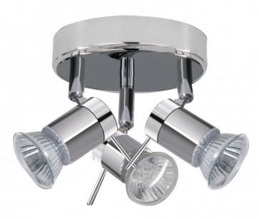 ARIES Plafonnier déco salle de bain Chrome 3x 35W Gu10