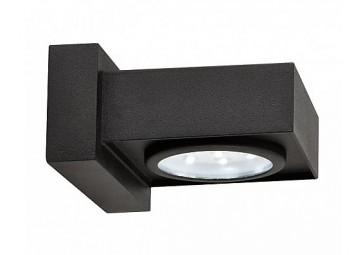 LED outdoor Applique carrée Horizontal - Applique murale extérieure noire