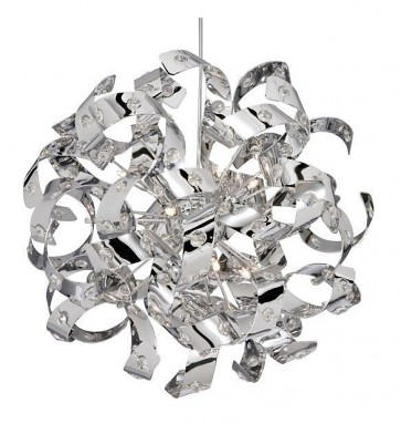 CURLS Lustre Finition Chrome / Crystal H50cm