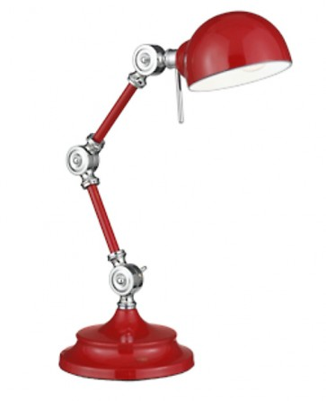 lampe-a-poser-chrome-rouge-ziggi-e14-5013874407412