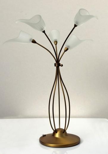 lampe-poser-bureau-tulip-metal-bronze-verre-g4-5x10w-design-h59cm-3129bz-searchlight-5013874276520