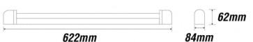 reglette fluo basique double tube T8 size 2x18w