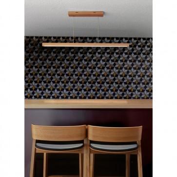 smal 120 cm 1 module led chene huile table