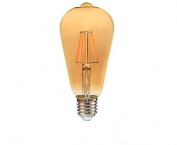 EDDY ampoule ST64 filament led ambré douille E27 540 lumens 6W