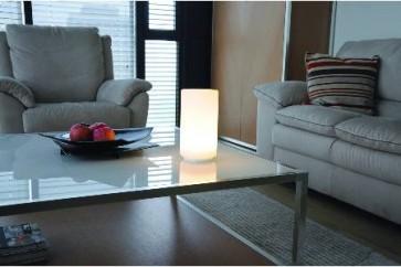 Lampe de table YAM boule déco Led RGB + télécommande show room