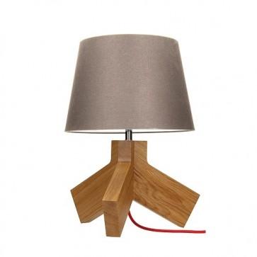tilda-lampe-a-poser-e27-60w-chene-cordon-tissu-rouge-abat-jour-marron-haut-43-5cm-6613670-britop