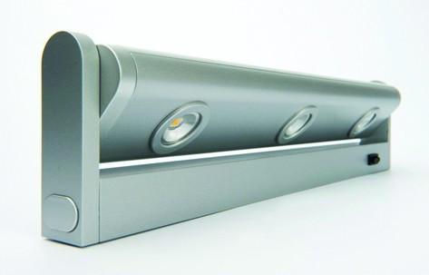 Réglette led orientable flex spot 3 x 1w gris 3000k