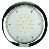 Kit de 3 Spots encastrés extra plat pour meuble et plafond Led intégré chromé 3X170 lm 2700K SLIM DIAM 70mm epaisseur 18mm