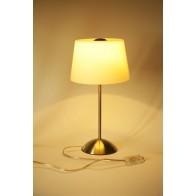 Lampe à poser Acier Brossé Verre blanc E14 maxi 40W hauteur 38cm nordlux cali