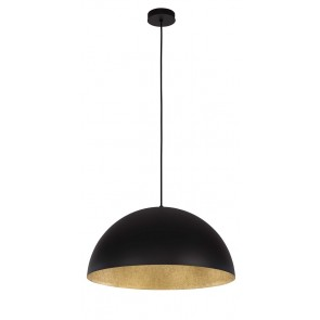 TUBA suspension diam 35cm exterieur Noir intérieur OR E27 60W