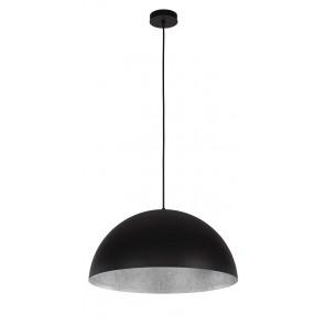 TUBA suspension diam 69,5cm exterieur Noir intérieur Argent E27 60W