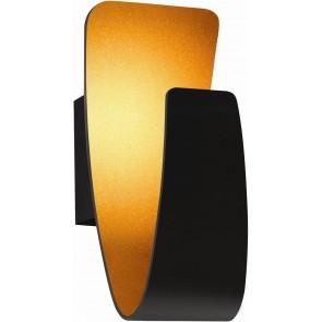 GONDOLA applique led 6w 200 lumens métal extérieur noir intérieur cuivré