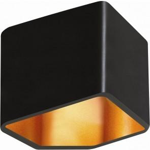 SPACE applique murale 6.5w led intégré noir intérieur doré 300 lumens 3000k