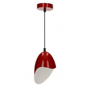 JENSEN suspension E27 60W métal rouge diam 14.5cm