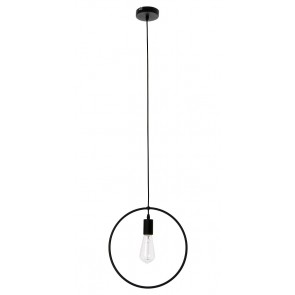 CARSTEN suspension ronde E27 60W noire