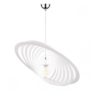 PLANET suspension E27 60W maxi blanc métal idiam 60cm