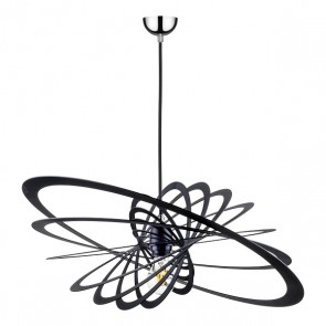PLANET suspension design métal noir diam 60cm E27 60W maxi