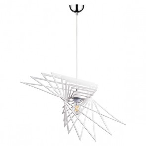 PLANET suspension design métal blanc diam 65cm E27 60W maxi