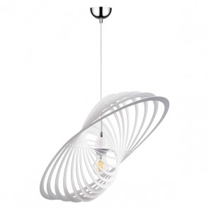 PLANET suspension design métal blanc diam 61cm larg 42cm E27 60W maxi