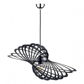 PLANET suspension design métal noir diam 61cm larg 42cm E27 60W maxi