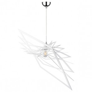 PLANET suspension design métal blanc diam 60cm E27 60W maxi
