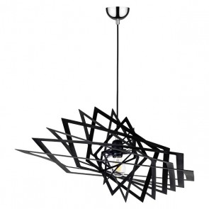 PLANET suspension design métal noir diam 60cm E27 60W maxi