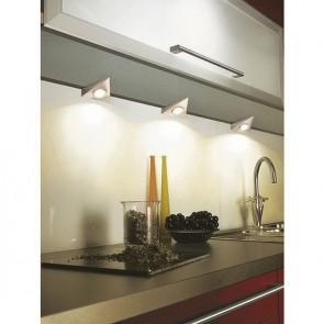 éclairage sous meuble cuisine triangulaire encastrés en saillie 470 lumens 3 x 2.8 Watt Blanc 3 lumières LED avec interrupteur Blanc 3000k Starlicht LED Pinotage