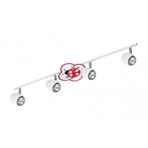 FLY arc barre de 4 spots enfant theme coccinelle GU10 maxi 50w