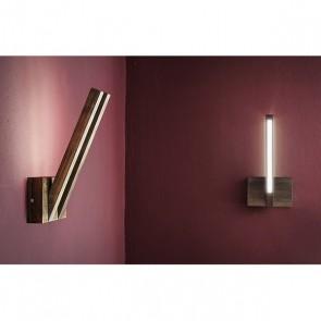 LINUS applique double Led 24v 6w hetre noyer 560 lumens lumiere indirecte
