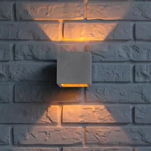 applique béton cube gris clair blanc 11cmx11cmx11cm G9 max 28w BLOCK
