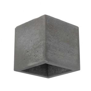 applique béton cube gris foncé 11cmx11cmx11cm G9 max 28w BLOCK