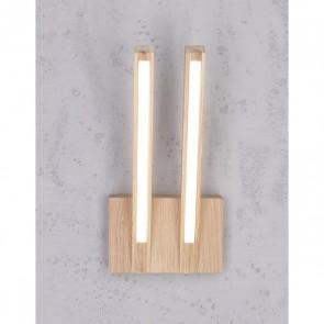 LINUS applique double 24v led 700 lumens bois chene huilé lumière directe