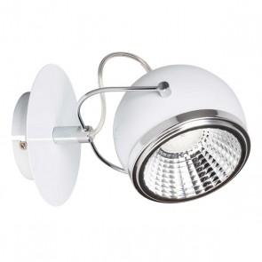 BALL applique spot patère blanc GU10 5.5W led inclus 450 lumens