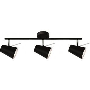 ASTRID barre de 3 spots noir E14 maxi 40w Long 58cm