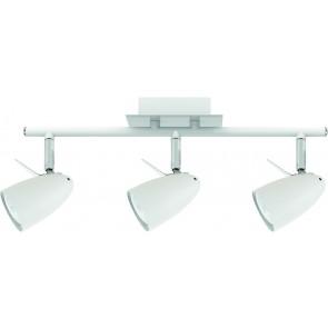 IAN barre de 3 spots blanc GU10 LED 4.5w 3x360 lumens 3000k