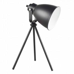 MARLA Lampe de table trépied E27 60W noire haut 43.5cm